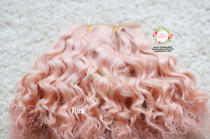 Mohair WEFT for Dolls, Curly hair for making dolls wigs, re-rooting Blythe BJD