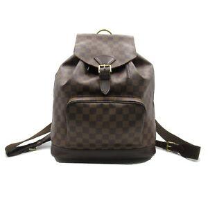 LOUIS VUITTON Montsouris GM Special Order Rucksack Backpack bag Damier canvas LV