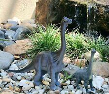 Set Of Two Brachiosaurus Dinosaurs Hard Plastic 2001/2009 Gray