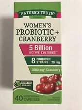 Natures Truth Women's Probiotic W/ Cranberry 5 Billion Cultures-20MG-40 Capsules