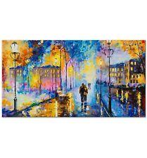 100% Handgemalt Acryl Gemälde handgemaltes Wand Bild Kunst Leinwand Romantisch