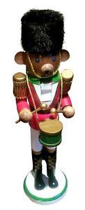 "15""Beefeater Soldier Teddy Bear Nutcracker Fuzzy Hat w/Drum Christmas Xmas Fun !"