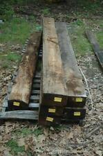 """Antique 1870s Rustic Reclaimed Architectural Wood Beam 11' 4"""" x 10"""" x 6"""""""