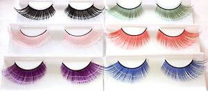 Cat Eye Flare Extra Long False Eyelashes Fake Lash Extensions Fancy Colourful