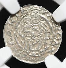 HUNGARY. Mint State Ferdinand I Silver Denar, 1550-KB, NGC MS62
