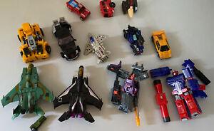 Transformers parts lot (Seekers Acid Storm Galvatron Optimus Skywarp Gobots)
