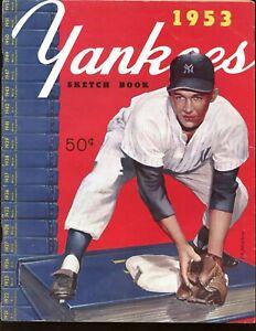 1953 New York Yankees Yearbook EX