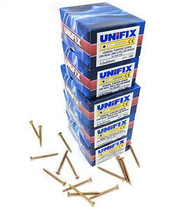 UNIFIX multi-purpose pozi countersunk screw CSK head, zinc yellow single thread