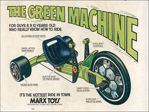 Green Machine Metal Sign FREE SHIPPING Marx Toys Vintage ad reproduction