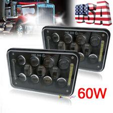 "2pc 4x6"" LED Headlights Hi/Lo Beam For Ford Chevrolet Kenworth Peterbilt Trucks"