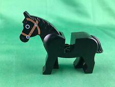 Lego Castle Black Classic Horse Bridle King Evil Knight Animal Minifigure