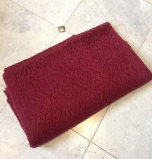 Resto di grandi dimensioni 152 x 104 cm ITALIANO Lavorato a Maglia Mohair Morbido Misto Lana Rrp £ 45/m Rosso scuro