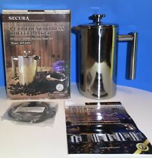 Secura - French Press Coffee Maker - 34oz/1000ml - Stainless Steel 304 Grade