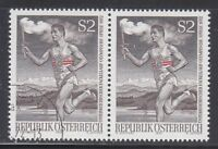 Austria 1972 MNH & CTO NH Mi 1392 Sc 926 Olympic torch relay from Olympia