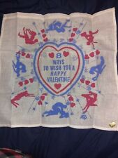 Valentine's Handkerchief Adult Vtg not a smoke free home