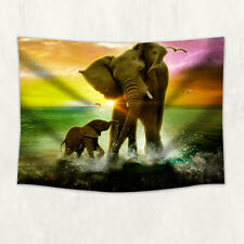 Elephant mum and son Tapestry Wall Hanging for Living Room Bedroom Dorm Decor