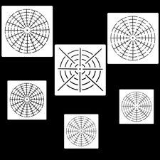 6PCS Mandala Stencil Design Layering Art Crafters for Painting Rocks Dotting