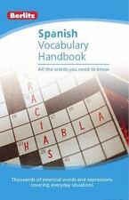 Spanish Vocabulary Berlitz Handbook (Berlitz Handbooks) (Spanish and English