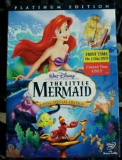 The Little Mermaid (DVD 2006 2-Disc Set Platinum Edition) Has Slip Cover Disney