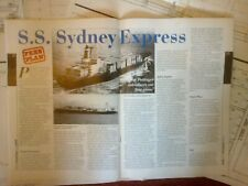 SYDENEY EXPRESS CONTAINER SHIP DRAWN TO 1/300 PLANS & ARTICLE BY J POTTINGER