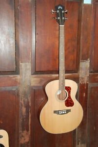 Guild B-240EF Fretless Acoustic-Electric Solid Top Bass Guitar Bass
