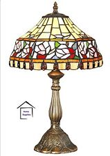 STUNNING  FLORAL TIFFANY STYLE HANDCRAFTED TABLE LAMP (medium size)