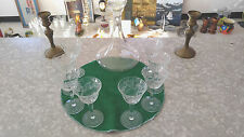 crystal decanter and crystal etched wine glasses 8