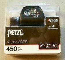Petzl ACTIK Core 450 Headlamp - Black *NEW*