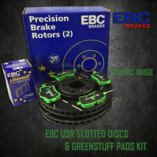 NEW EBC 296mm FRONT USR SLOTTED BRAKE DISCS AND GREENSTUFF PADS KIT PD06KF133