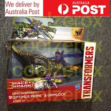 Transformers Age Of Extinction dino Sparkers Optimus Prime & Grimlock- Deluxe