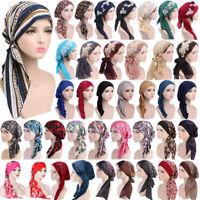 Women Elastic Turban Hat Cancer Chemo Hair Loss Cap Muslim Hijab Head Wrap Scarf