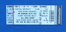 """Yes-""""2013 Tour Concert Ticket"""" Steve Howe-Chris Squire-Alan White-Music-Great!"""