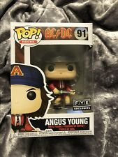 Funko Pop! Rocks Ac/Dc Angus Young # 91 F.Y.E. Fye Exclusive W/ Projector!