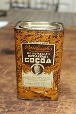 "Vintage Rawleigh's Good Health Breakfast Cocoa Tin, Full, 5 1/2"" Tall"