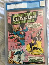 Justice League of America 32 CGC 8.0 OW/ pages 1st appearance of Brain Storm