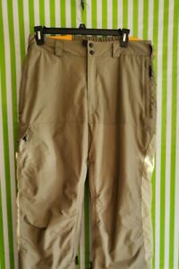 COLUMBIA Convert Men Large 36×32 Khaki lined warm snowboard ski waterproof Pants