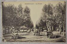 """CPA """" MARSEILLE - Le Prado """" embouteillage de vieux tacots """""""