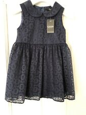 Girls George Navy Lace Party Summer Dress Age 2-3