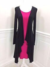 NWT  MY TRIBE Mady Cardigan Knit  Dress Black and Magenta Pink size M   NEW