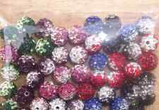 100pcs/lot 10mm Gradient Change Colorful  Beads DIY Clay Disco Ball