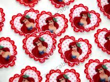 4 piezas corazón Antena Sirena Dorso plano Cabochón Planar artesanía Hazlo tú mismo Decoden Kit 35mm