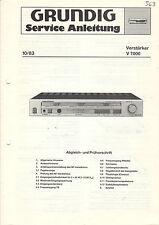 Grundig Service Anleitung Manual Verstärker V 7000   B1088