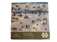 Hallmark - Playful Penguins Keepsake Collector's Puzzle Sealed 1000 pcs Nib