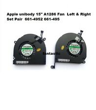 "Apple Macbook Pro unibody 15"" A1286 Fan Left Right Set Pair 661-4952 661-495 new"