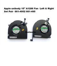 "Apple Macbook Pro unibody 15"" A1286 Fan Left Right Set Pair 661-4952 661-495 new"