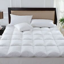 100 % Pure Duck Feather & Down Mattress Topper Matress Cover Available In All Si