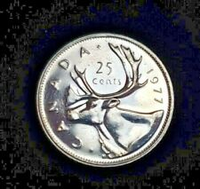 1977 CANADA 25 CENTS WITH LIGHT TONING