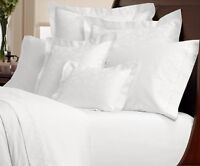 "Extra Deep Fitted Sheets Egyptian 100% Cotton Plain Percale White 200TC 16""Depth"