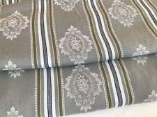 "Vintage French Cotton Damask Rose stripe Ticking fabric Upholstery 63"" x 4 yards"