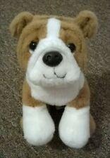 "Harrods Knightsbridge Bulldog Plush Puppy Dog 8"" Brown & White Soft Toy 20cm"